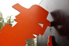 ЕКАТЕРИНБУРГ, РОССИЯ - 6-ОЕ ИЮНЯ 2016: Фото любопытства памятник часть Стоковая Фотография RF
