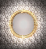 декоративное золото рамки Стоковые Изображения RF