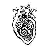 декоративное сердце этническая картина Стоковые Изображения RF