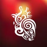 декоративное сердце этническая картина Стоковая Фотография RF