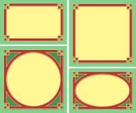 декоративные рамки Стоковые Изображения RF