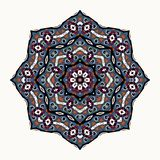 декоративный орнамент круглый Мандала цвета вектора multi Стоковая Фотография