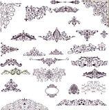 декоративный сбор винограда элементов Стоковые Фотографии RF