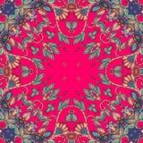 декоративный флористический орнамент Смогите быть использовано для карточек, печатей bandana иллюстрация штока