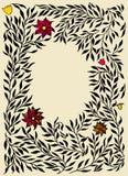 декоративный флористический сбор винограда вектора картины иллюстрации рамок также вектор иллюстрации притяжки corel Стоковая Фотография RF