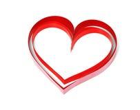 2 декоративных сердца на белой предпосылке Стоковые Изображения RF
