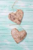 2 декоративных сердца Стоковое фото RF