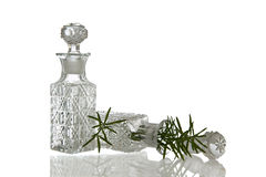 2 декоративных стеклянных бутылки с штепсельными вилками Стоковое Изображение RF