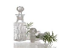 2 декоративных стеклянных склянки с штепсельными вилками Стоковые Фотографии RF