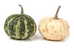2 декоративных тыквы изолированной на белой предпосылке Стоковые Фото