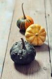 3 декоративных тыквы Стоковые Фотографии RF