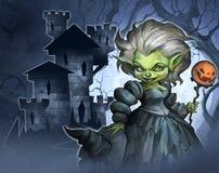 Ексцентрическая ведьма хеллоуина Стоковые Фото