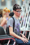 ексцентрическый человек стиля причёсок стекел Стоковое Фото