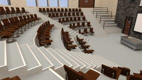 лекционный зал перевода 3D Стоковое Изображение RF
