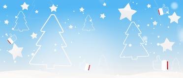 Ель и большие пальцы руки силуэта рождества зимы вверх по 3d-illustration бесплатная иллюстрация