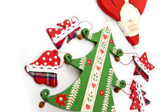 Ель Кристмас и Дед Мороз. Стоковое фото RF