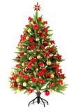 ель рождества близкая цветастая освещает вал вверх Стоковые Изображения