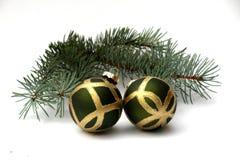 ель 2 ветви шариков Стоковые Фото