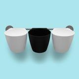 Емкости - 3 пустых пластичных чашки Стоковое Изображение RF
