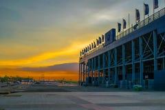 Емкость стандартного поля арены Chang большая 20000 мест Buriram к востоку от Таиланда стоковое изображение