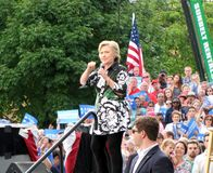 2016 демократичный кандидат на пост президента, Хиллари Клинтон стоковая фотография