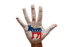 демократы ладони стоковые фото