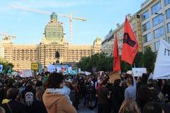 демонстрация prague Стоковая Фотография
