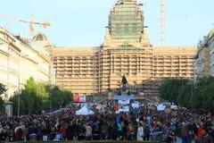 демонстрация prague Стоковое Фото