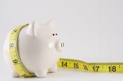 лента измерения банка piggy Стоковое Фото