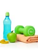 лента измерения здоровья принципиальной схемы яблока Стоковое Фото