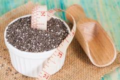 лента семян chia шара измеряя Стоковые Фотографии RF