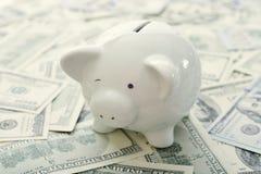 деньги банка piggy стоковое изображение