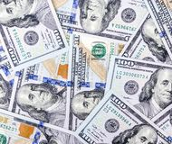 деньги вороха долларов предпосылки Стоковое Изображение RF