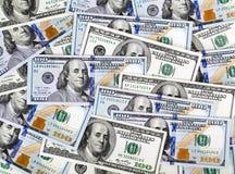деньги вороха долларов предпосылки Стоковая Фотография