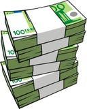 деньги изолированные евро бесплатная иллюстрация