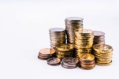 деньги Немного большого и малого rouleau монеток Стоковые Фотографии RF