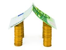 деньги дома владельцев дома цен принципиальной схемы заработанные изображением представляют Стоковые Изображения