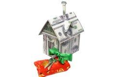 деньги дома владельцев дома цен принципиальной схемы заработанные изображением представляют Стоковые Изображения RF