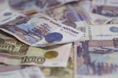 деньги рублевки русские Стоковая Фотография RF
