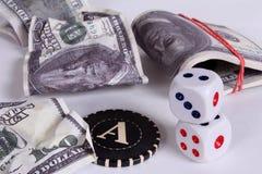 деньги серии Приз в казино Стоковое Изображение