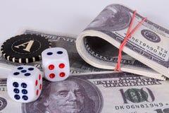 деньги серии Приз в казино Стоковые Изображения RF