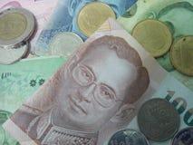 деньги тайские, карточка банка Таиланд Стоковое Фото