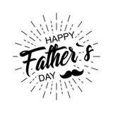 день будет отцом счастливого стильный дизайн и плоский дизайн Стоковая Фотография RF