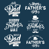 день будет отцом счастливого Стоковые Фотографии RF