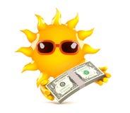 день зарплаты 3d Солнця Стоковое Изображение RF
