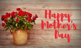 день карточки приветствуя счастливую мать s Стоковые Изображения RF
