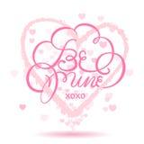 день карточки приветствуя счастливые valentines Стоковое Изображение RF