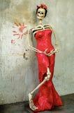 день мертвый Catrina на старой стене Стоковое фото RF