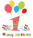 день рождения сперва иллюстрация вектора