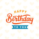 день рождения счастливый к вам Стоковые Фотографии RF